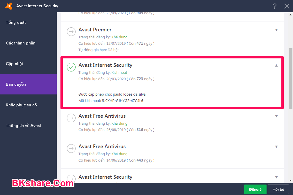 Hướng dẫn cài đặt và kích hoạt key Avast Internet Security 2018mới nhất miễn phí