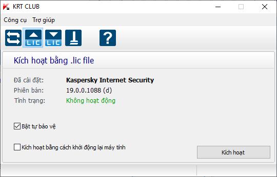 KRT CLUB v2.1.2.69 (Kaspersky Reset Trial) - Xài Kaspersky vĩnh viễn