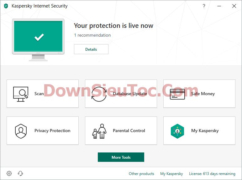 Hướng dẫn kích hoạt key Kaspersky Internet Security 2019 miễn phí