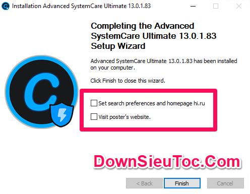 Hướng dẫn cài đặt và kích hoạt key Advanced SystemCare Ultimate 13