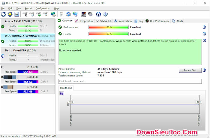 Download Hard Disk Sentinel Pro miễn phí mới nhất