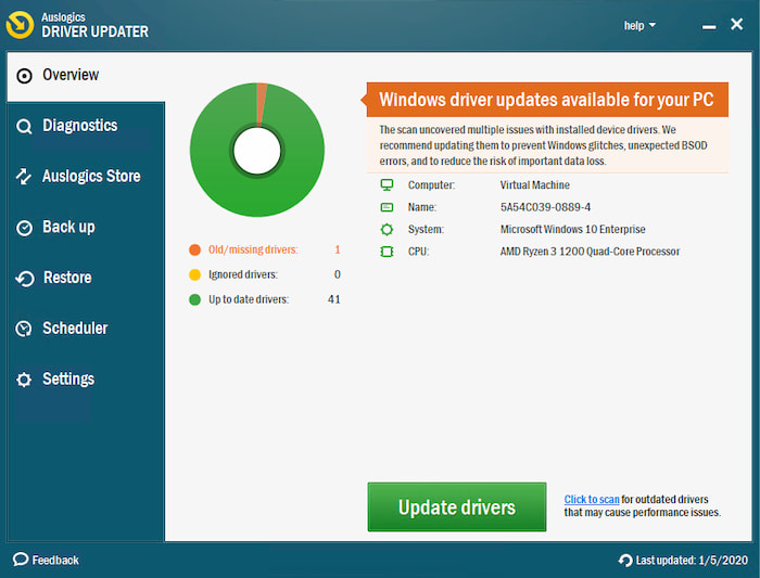 Download Auslogics Driver Updater miễn phí mới nhất