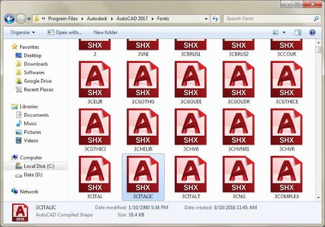 Cách sửa AutoCAD 2007 bị lỗi font